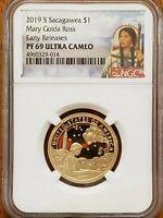 2019-S Sacagawea,Mary Ross Dollar NGC PF69 UCAM Early Releases #AA170-3