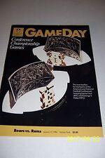 1986 CHICAGO BEARS vs LOS ANGELES Rams NFC Championship Program SOLDIER FIELD