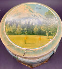 """Vintage """"LEEDS/ENGLAND TOFFEE"""" Tin w/Golf & Various Images"""
