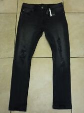 "Brave Soul Denim Studio skinny effet vieilli Jeans Taille 32"" R Bnwt £ 31.99 Anthracite"