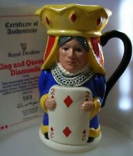 ROYAL-DOULTON KING and QUEEN OF DIAMONDS-TOBY JUG D6969 MINT IN BOX