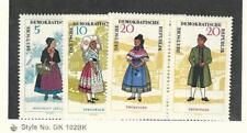 Germany - DDR, Postage Stamp, #740a, 742a, 744a Mint NH Pairs, 1964