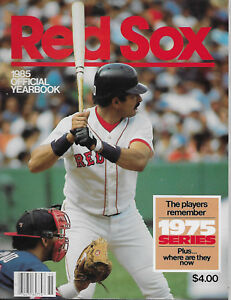 1985 Boston Red Sox Year Book/Media Guide   CLEMENS-BOGGS-RICE-EVANS+++++