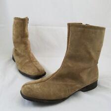 Hush Puppies Cozy Fleece Lined Split Toe Boot Women's 7.5 Tan Suede Leather C22