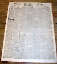 1852 NEW ORLEANS DELTA newspaper LOUISIANA w 4 SLAVE ADS - 9 years PRE CIVIL WAR