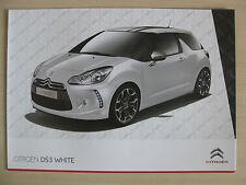 Citroen DS3 White / Black Special Editions UK Sales Brochure (2010)