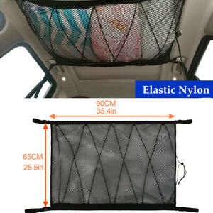 1PC Car SUV Roof Hanging Luggage Cargo Net Bag Mesh Storage Pocket Universal