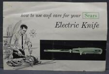 Vintage Sears Electric Knife Instruction Manual