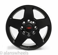 """4 Chevy Silverado HD 2500 3500 8 Lug 8x6.5"""" 20"""" Black RBT Wheels Rims Lugs 5503"""
