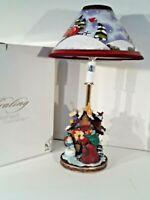 House of Lloyd Christmas Around the World Santa's Cottage Lamp With Original Box
