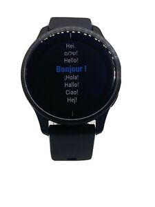 Garmin Venu Black GPS Smartwatch with Bright Touchscreen-Read Description