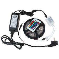 KIT STRISCIA LED SMD 3528 RGB IP65 5 METRI CON ALIMENTATORE E TELECOMANDO COLOR