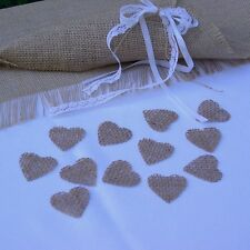 Natural Jute Hessian Hearts For Rustic Shabby Chic Crafts