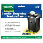 Paper Shredder Sharpening and Lubricant Sheets, 12-Count, Optimizes Performance