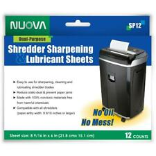 Paper Shredder Sharpening And Lubricant Sheets 12 Count Optimizes Performance