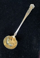 Gorham Buttercup Old Marks Sterling Silver Gold Wash Cream Sauce Ladle Mono P