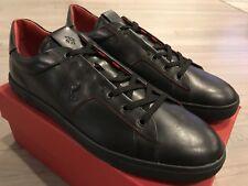 650$ Tod's Ferrari Black Allacciata Cavalino Sneakers Size US 14 Made In Italy