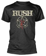 Rush T Shirt American Tour 1977 Official Licensed Grey Mens Tee Rock Metal Merch