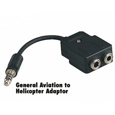 Pilot General Aviation David Clark Avcomm SoftComm Headset to Helicopter Adapter