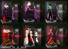 Maleficent Evil Queen Ursula Queen of Hearts Disney Villains Designer Doll Lot 6