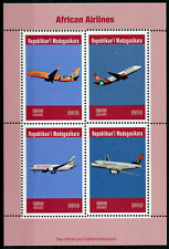 Madagascar 2019 MNH Ethiopian South African Airlines 4v M/S Aviation Stamps