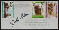 s1280) Raumfahrt Space Autograph Astronaut John Glenn on cover to Austria