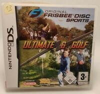 Original Frisbee Disc Sports + Ultimate & Golf 2 in 1 DS, NDS, 3DS mit Hülle CiB