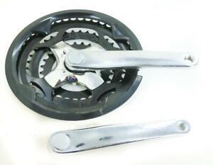 Square Taper Steel 170mm Hybrid MTB Bike Crankset 48/38/28T 7/8 Speed NTO New