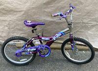 "Malibu Firefly 20"" Girl Bicycle Bike Purple/Silver"