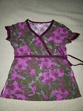 Koi by Kathy Peterson scrub top, size small, Euc!