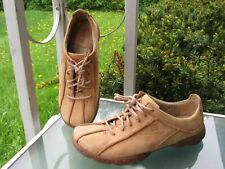 Børn  Tan Leather Oxfords Lace Up Sneakers Comfort Shoes, Womens size 8.5