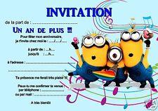 5 oder 12 geburtstag einladungskarten DIE MINIONS ref 279