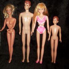 1960s Vtg Barbie Allen Alan Kens, Skipper's  Ricky, Maddie Mod, Gold Ball Gown