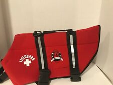 Red Neoprene Lifeguard Doggy Life Jacket