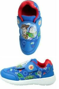 BOYS TOY STORY TRAINERS NEW TOUCH FASTENING PUMPS SHOES SIZE SIZE 6 - 12