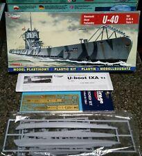 Mirage Hobby German U-Boat type IXA U-40 in 1/400. Unbuilt model in box.