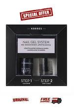 Korres Nail Gel System Dark Mauve & Top Coat 10ml *2 STEP SET Nail Polish*