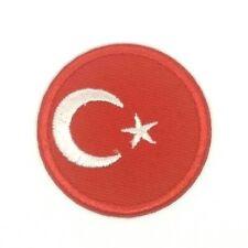 TURKEY FLAG embroidered iron-on PATCH TURKISH EMBLEM Türkiye Cumhuriyeti 1703