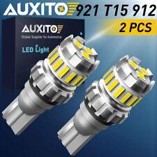 2X AUXITO Backup Reverse Lights 921 912 T15 LED 6500K White Bulb 2400LM 18SMD F2
