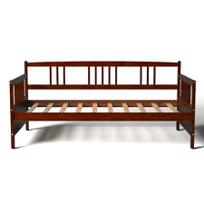 Twin Size Wooden Slats Daybed Bed Sofa Support Platform Home W/Rails Espresso