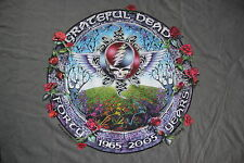 Grateful Dead Shirt T Shirt G.D. Forty 40 Years ! grey DuBois GDM Large L New