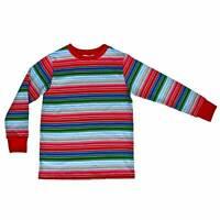Child Kids Rainbow Striped Horror Good Buddy Halloween Costume Long Sleeve Shirt