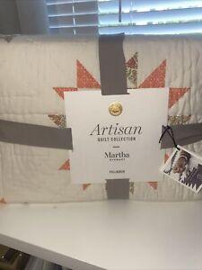 Martha Stewart Collection Artisan Sunburst Patchwork Full/Queen Quilt