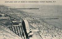BROOKLYN NY - Coney Island Airplane View of Beach and Boardwalk
