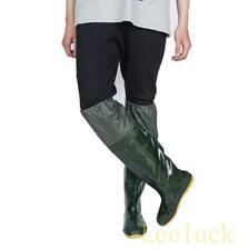 New Mens Flats Fishing Work Waterproof Rubber Over Knee Boots Shoes Casual @