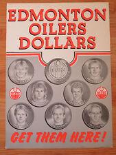 1983 EDMONTON OILERS DOLLAR Advertising Poster GRETZKY MESSIER MOOG LINSEMAN