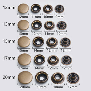 1Set Craft Fasteners Snap Buttons Metal Sewing Clothing Accessories Leather New