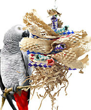 3450 Paper Shred Bird Toy parrot cage craft toys cages african grey conure macaw