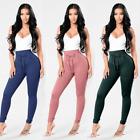 Women Ladies Chiffon Harem Pants Elastic Waist Casual Loose Long Pants Trousers