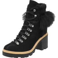 Sigerson Morrison Womens Naia Suede Fur Trim Hiking Boots Shoes BHFO 0589